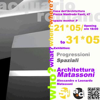 Architettura Matassoni. Progressioni Spaziali