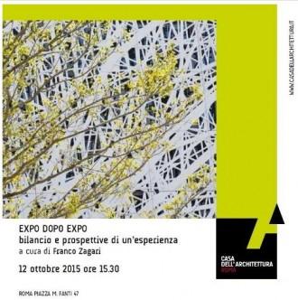 EXPO DOPO EXPO bilancio e prospettive di un'esperienza