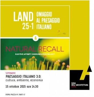 Paesaggio italiano 3.0: cultura - ambiente - economia