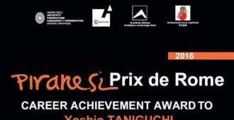 Premio Piranesi alla carriera e lectio magistralis dell'architetto giapponese Yoshio Taniguchi