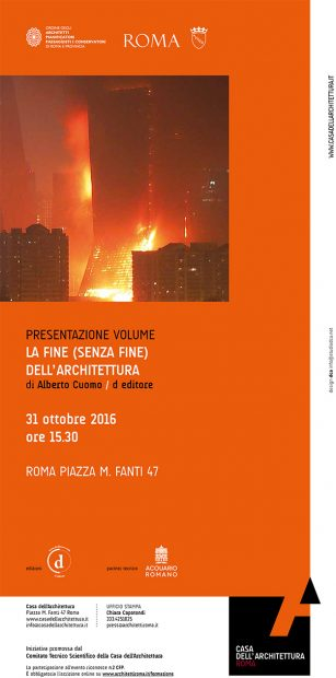 LA FINE (SENZA FINE) DELL'ARCHITETTURA