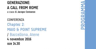 GENERAZIONE: A CALL FROM ROME. Chapter 2: MAIO & POINT SUPREME