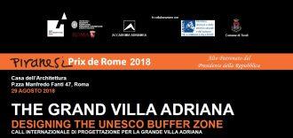 The Grand Villa Adriana Designing the UNESCO buffer zone call internazionale di progettazione per la grande Villa Adriana