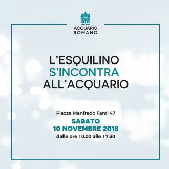 L'ESQUILINO S'INCONTRA ALL'ACQUARIO