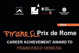 Piranesi Prix de Rome alla carriera Francesco VENEZIA