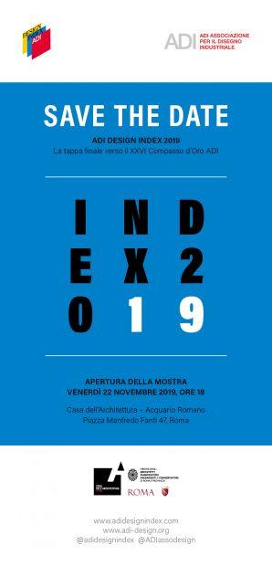 Index 2019 a Roma / Verso il XXVI Compasso d'Oro ADI. La mostra e la presentazione dei selezionati.